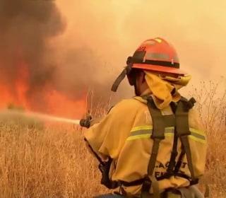 'It Feels Like It's Alive': Firefighters Battle California Blaze