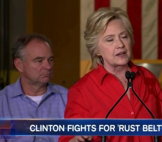 Hillary Clinton, Tim Kaine Hit The Road to Sell Jobs Plan