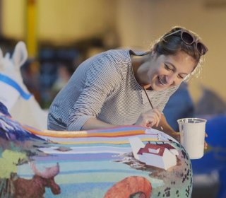 Meet the Artists Painting Donkeys for the DNC