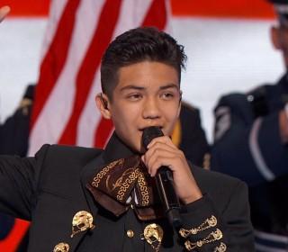 14-year-old Mariachi Singer Sebastien de la Cruz Sings National Anthem at DNC