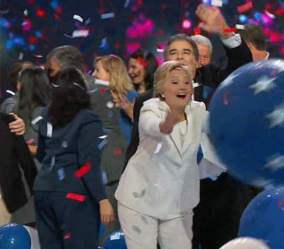 Here's How the Clintons Celebrated Hillary's Nomination