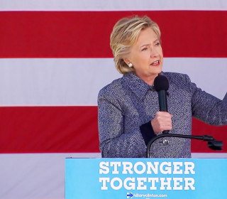 Clinton's With Thoughts Iowa Flood Residents, NJ Train Wreck Victims