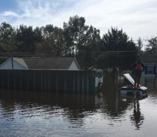 Flood-Ravaged City Surveyed by N.C. Governor
