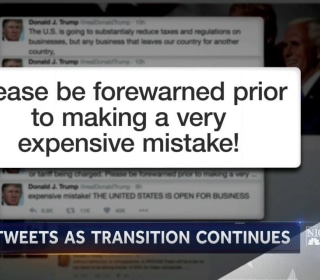 Trump Continues to Tweet Freely As Transition Continues