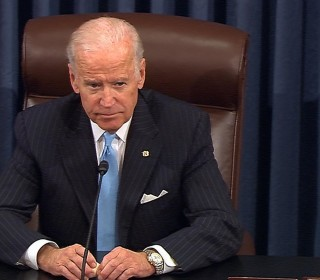 Biden Emotional While McConnell, Reid, Rename Portion of Bill After Beau Biden