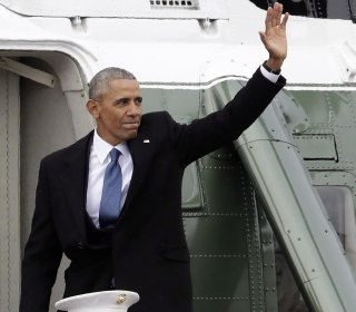 The Obamas Depart Washington in Helicopter