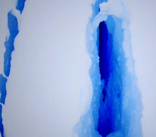 Fly Down the Giant Antarctic Crack That's Forced Scientists to Leave