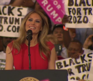 Melania Trump Leads Melbourne Crowd in 'The Lord's Prayer'