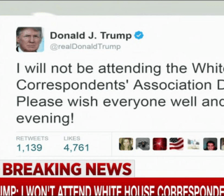 Trump: I won't attend WH Correspondents Dinner