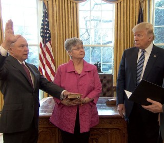 Watch Jeff Sessions Be Sworn In As Attorney General