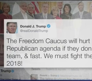 Pres. Trump Vows to Fight House Freedom Caucus Members