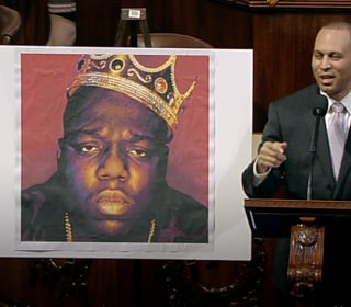 'Where Brooklyn at?' On the House Floor Rapping Biggie Smalls