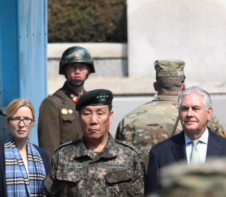North Korea Keeps Close Watch on Rex Tillerson at the Demilitarized Zone