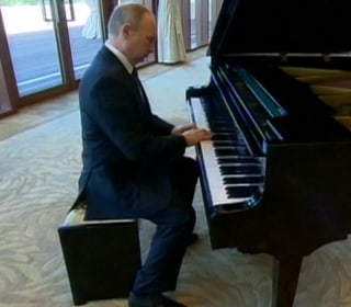 President Putin Showcases His Piano Skills