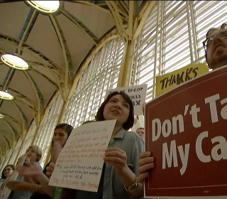 Protesters Take Fight Over Healthcare to DC Airport