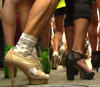Men in High Heels Race Through Streets of Madrid