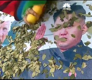 Chanting Over Pics of Trump, Kim Jong-Un, Shamans Perform World Peace Ritual