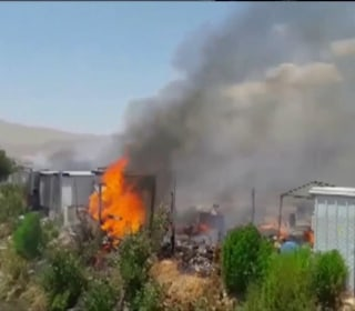 Massive Fire Destroys Syrian Refugee Camp in Lebanon