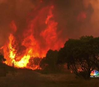 Eight Massive Wildfires Rage Across California