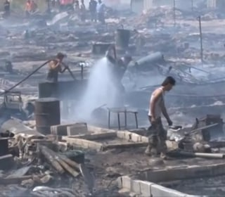 Massive Fire Tears Through Syrian Refugee Camp
