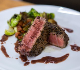 Curtis Stone Cooks Up Filet Mignon and Brussel Sprouts