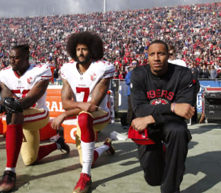 Donald Trump feuds with sports stars who don't stand during the national anthem