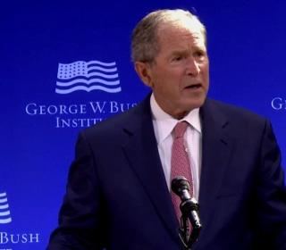 Bush Says Public Discourse in U.S. 'Degraded by Casual Cruelty'