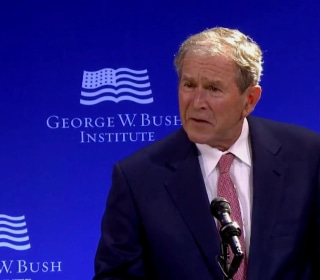 Bush Slams Russia for Attempts to 'Exploit Our Country's Divisions'