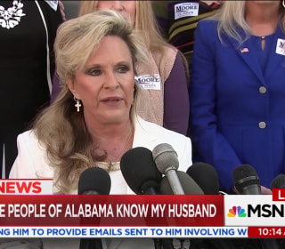 Kayla Moore defends husband's candidacy: 'He will not step down'