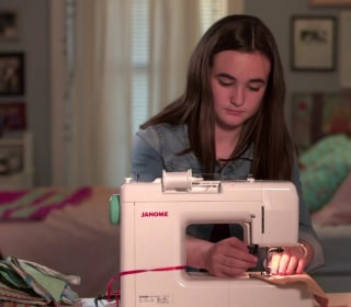 13-year-old raises thousands of dollars for breast cancer with her sewing machine
