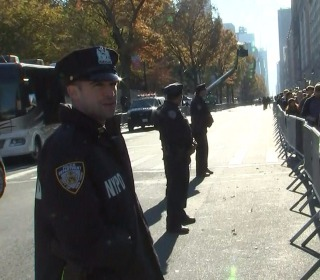 Heightened security along New York City's Thanksgiving Day Parade route
