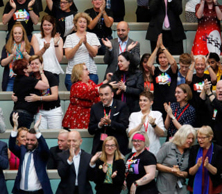 Emotional Australian lawmakers react to passage of historic same-sex marriage law
