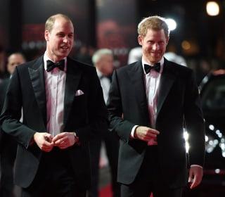 Princes William and Harry attend the European premiere of 'The Last Jedi'