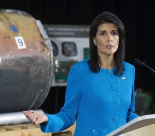 Haley displays missile as evidence Iran is violating UN resolutions