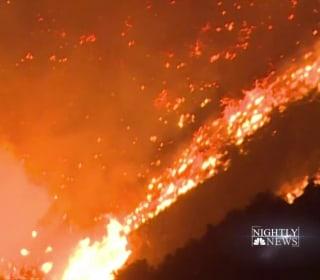 Massive wildfires spread to Santa Barbara County