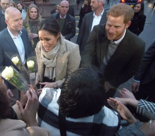Cheering crowd welcomes Harry and Meghan to Brixton