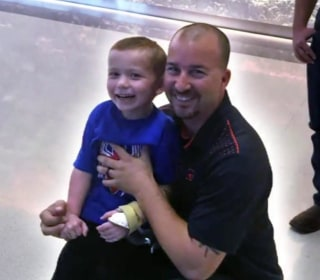 Firefighter befriends boy he saved after Texas church massacre