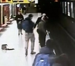 Teen leaps off train platform, saves toddler from tracks in Milan