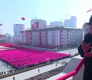 North Korea holds military parade ahead of Olympics Opening Ceremony