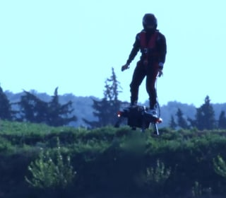 This futuristic jet pack that lets users fly up to 10,000 feet in the sky