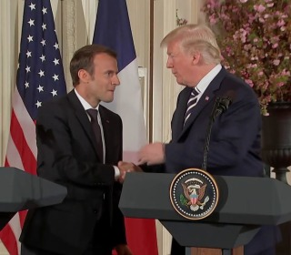 Trump puts personal 'touch' on diplomacy with Macron