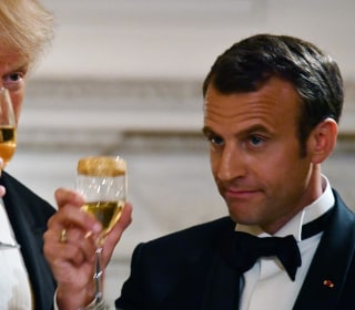 Trump, First Lady, host first State Dinner for French President Macron