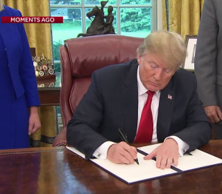 President Trump signs order halting family separation at border