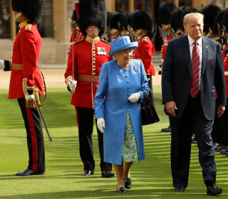 President Trump and First Lady take tea with the Queen