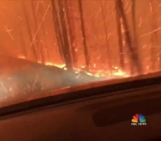 Dramatic video shows father and son's harrowing escape from Montana wildfire