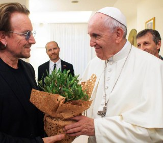 Bono talks abuse and Pope Francis: 'You can see the pain in his face'