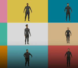 Suit up: This polka dot onesie aims to replace the measuring tape