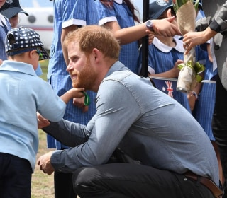 Aussie 5-year-old grabs hugs (and beard) as Harry and Meghan visit
