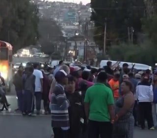 First group of Central American migrants arrives in Tijuana to seek asylum in U.S.