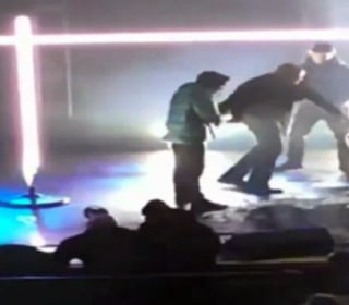 Fight breaks out onstage at Pusha T concert in rival Drake's hometown